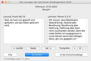 Die Losungen für MAC OS für 2019/2020
